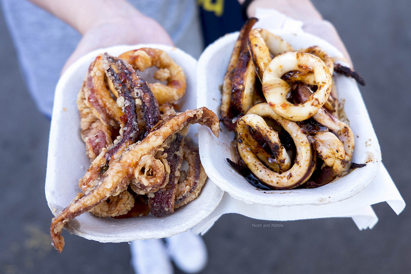 Deep Fried and BBQ Squid