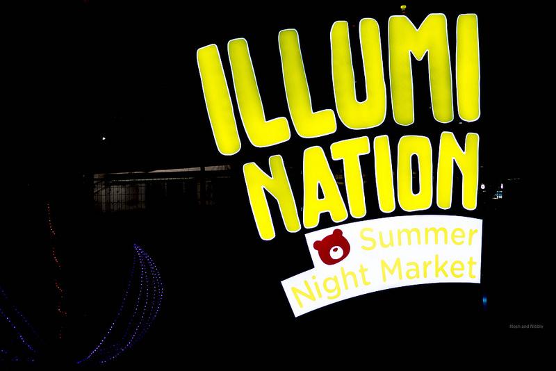 Outside Illumination Summer Night Market