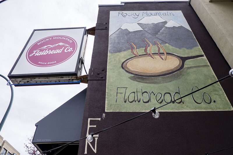 Outside Rocky Mountain Flatbread Co.
