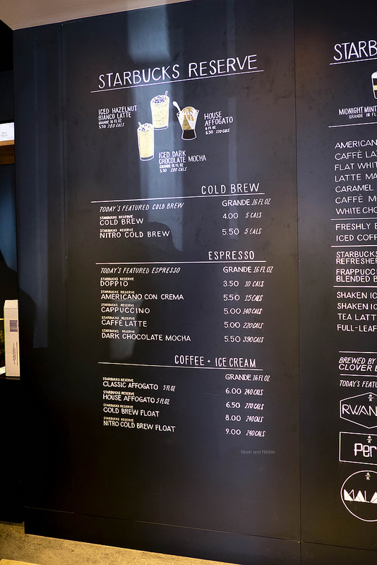 Starbucks Menu 2