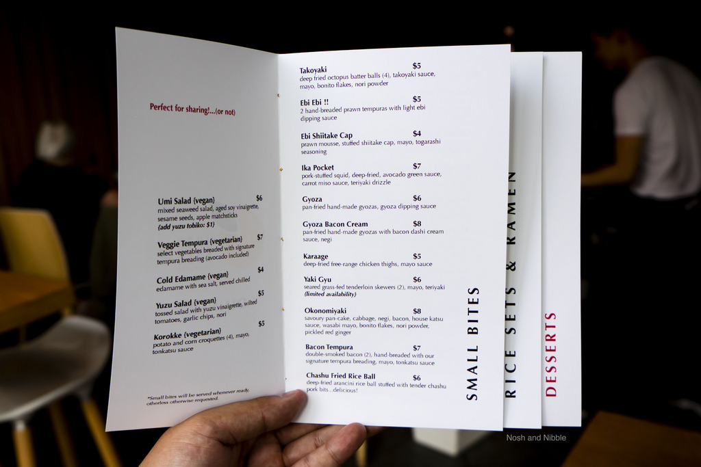 Small Bites Menu
