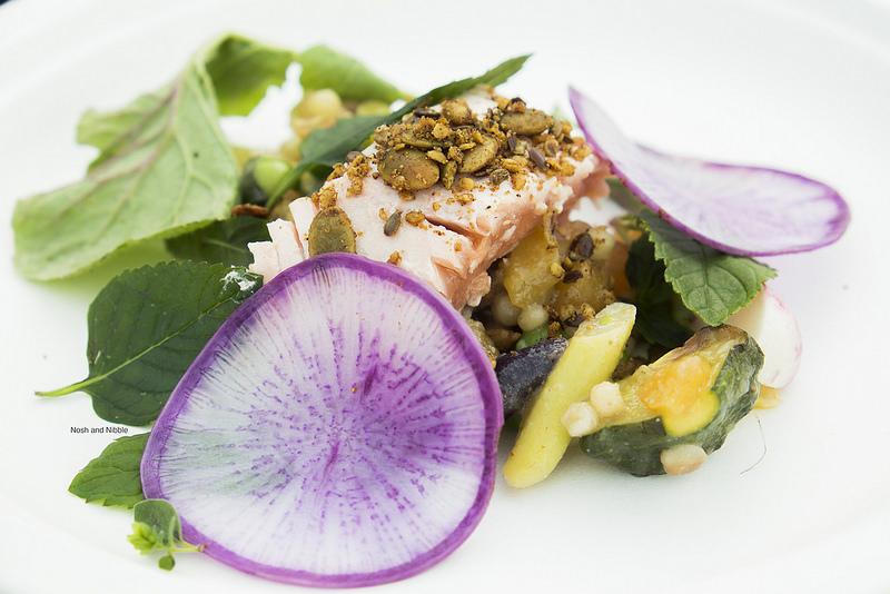 Poached Salmon Pasta Salad