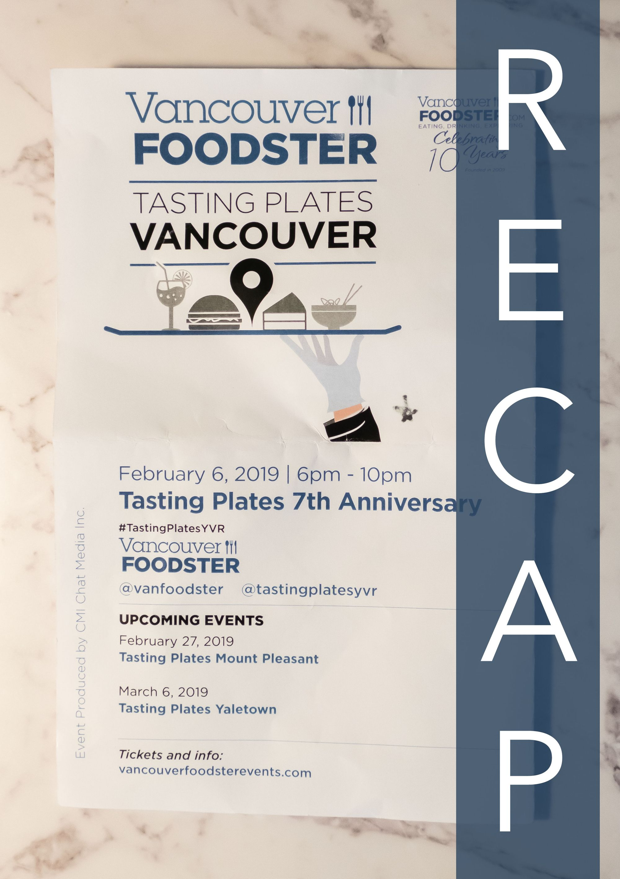 Tasting Plates 7th Anniversary Vancouver