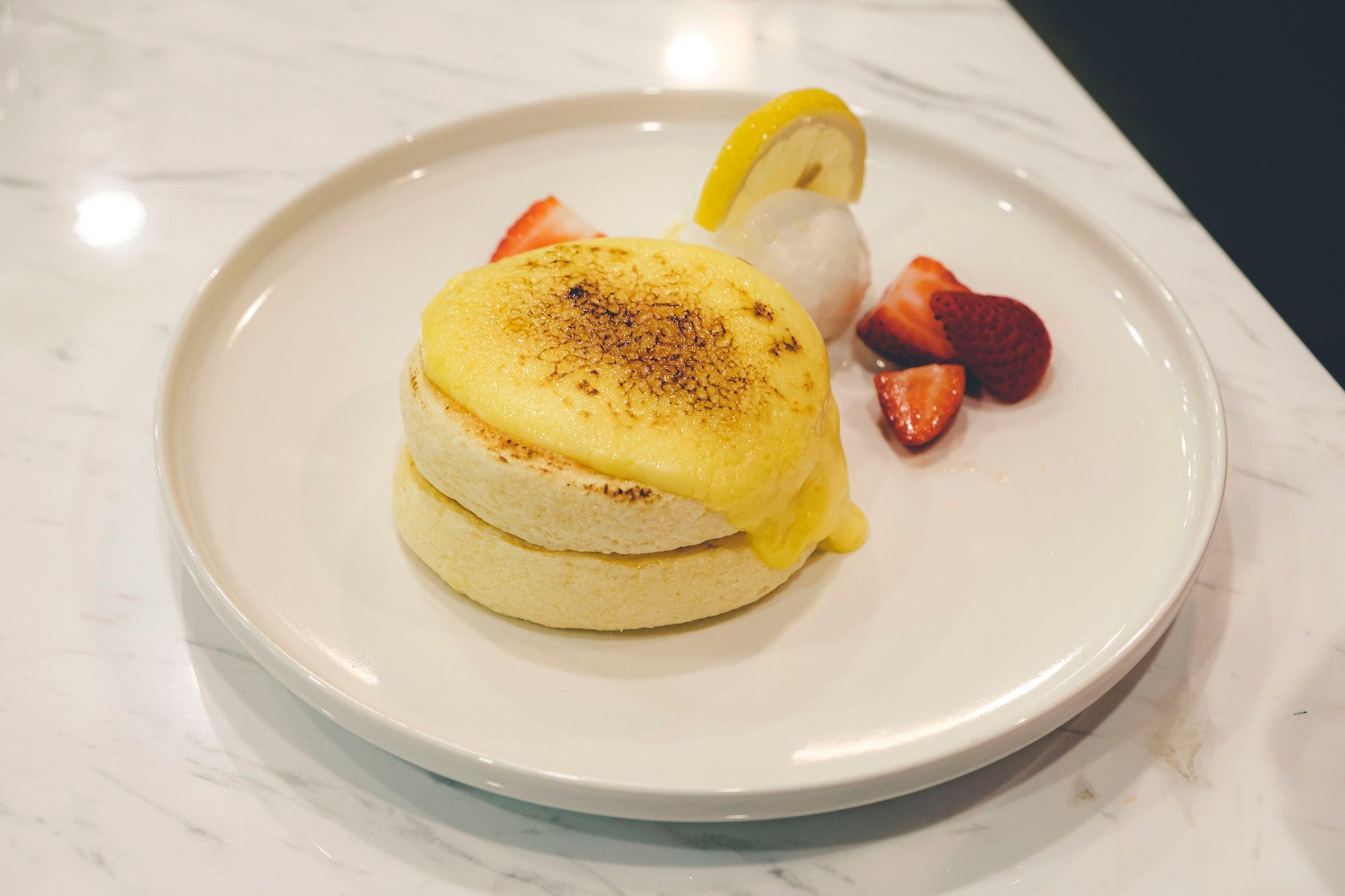 Lemon Crème Brûlée Soufflé Pancake