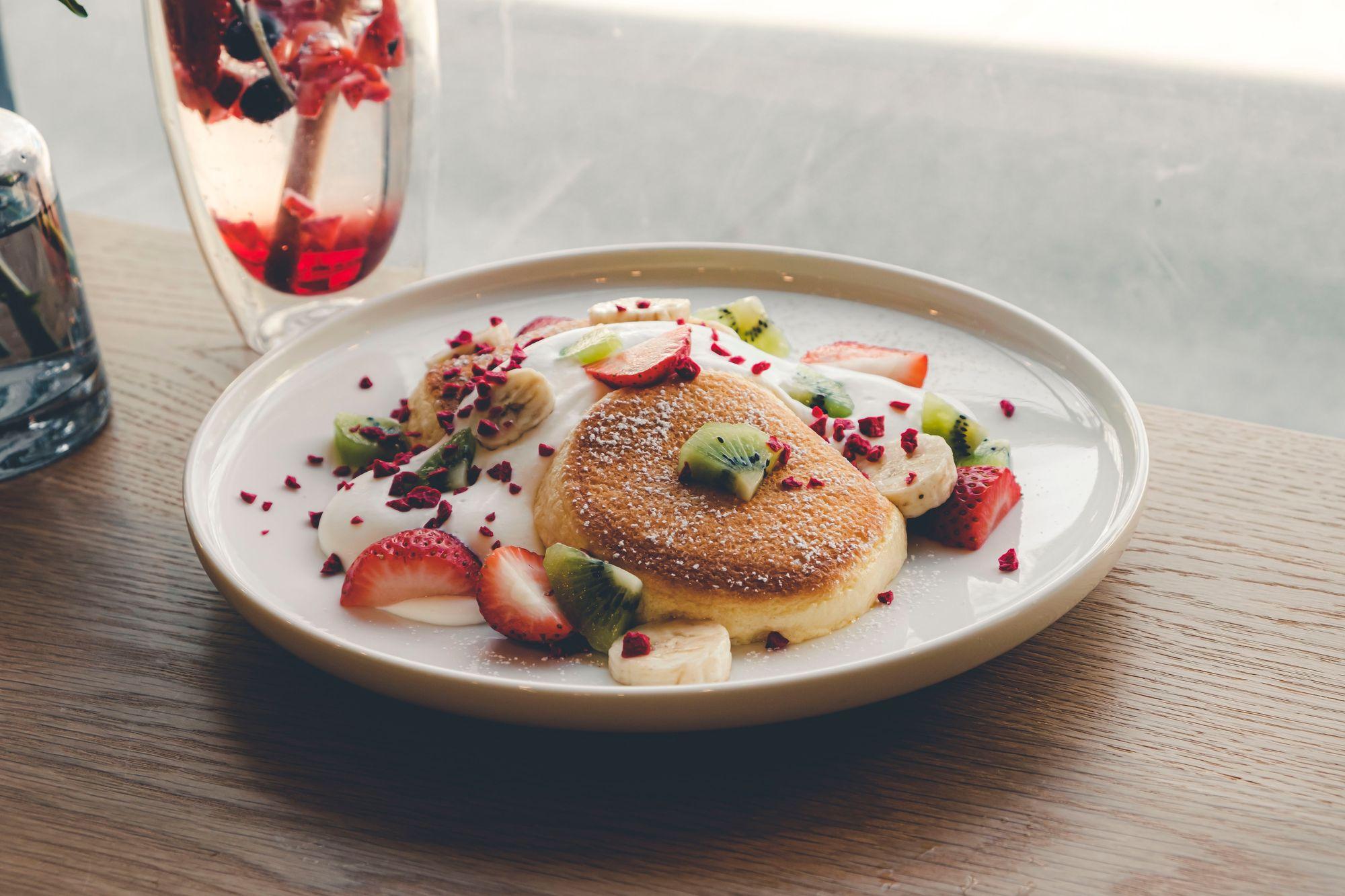 Mixed Fruit Soufflé Pancake