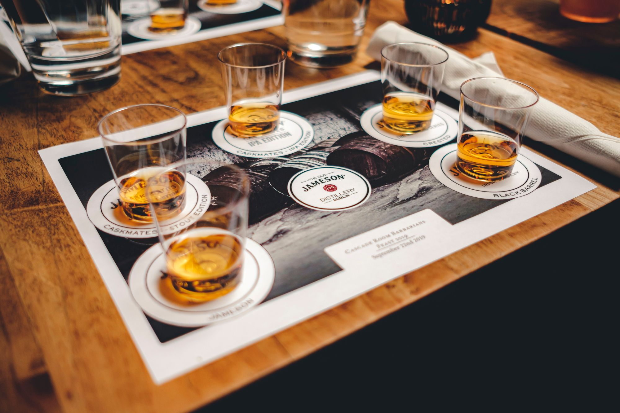 Jameson Tasting Flight