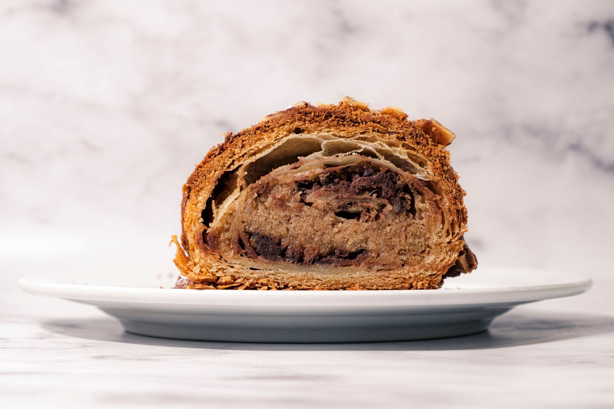 BjornBar Bakery Tiramisu Croissant - Cross Section