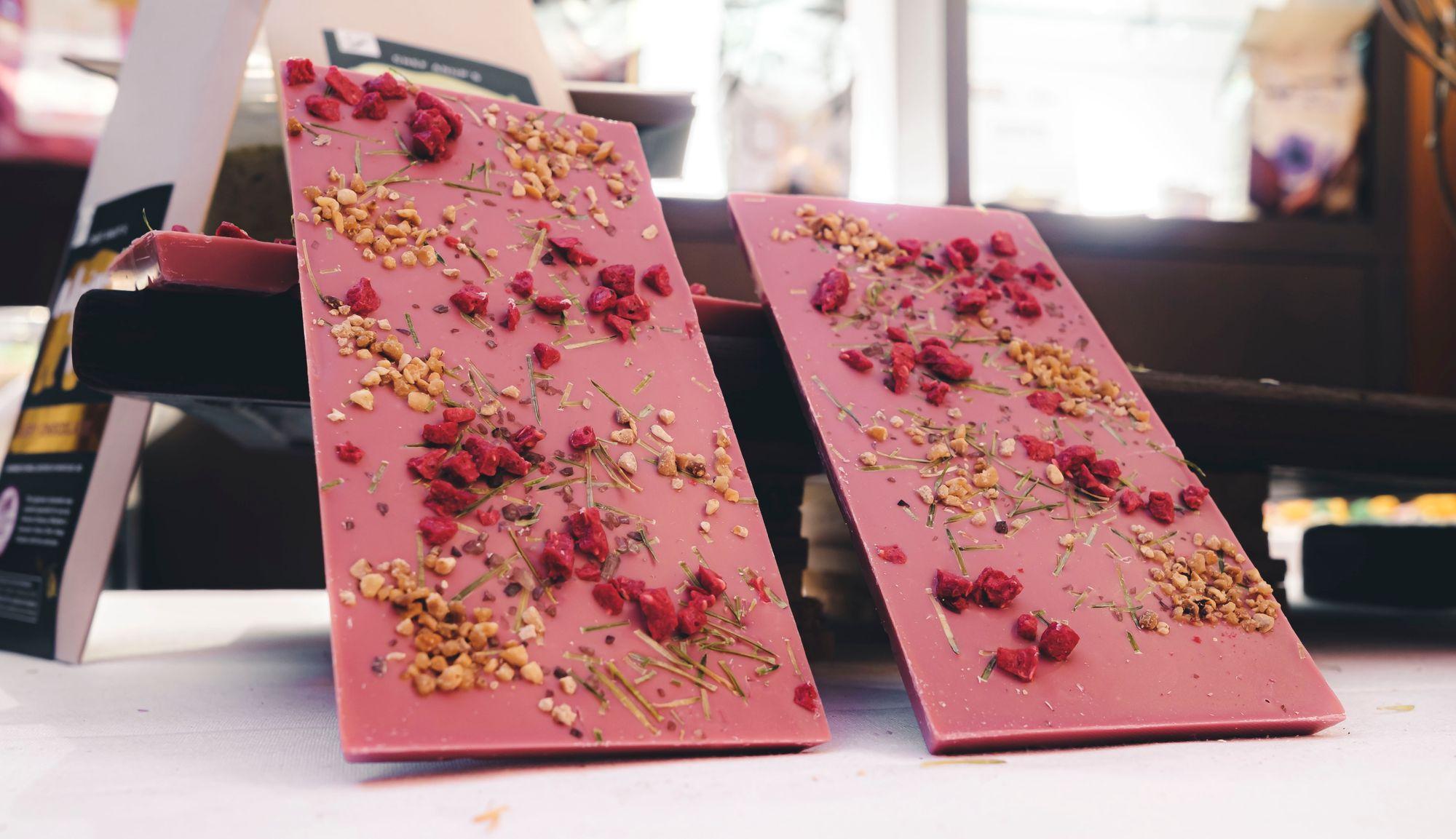 Fairmont Whistler The Alpine Bear Ruby Chocolate Bar