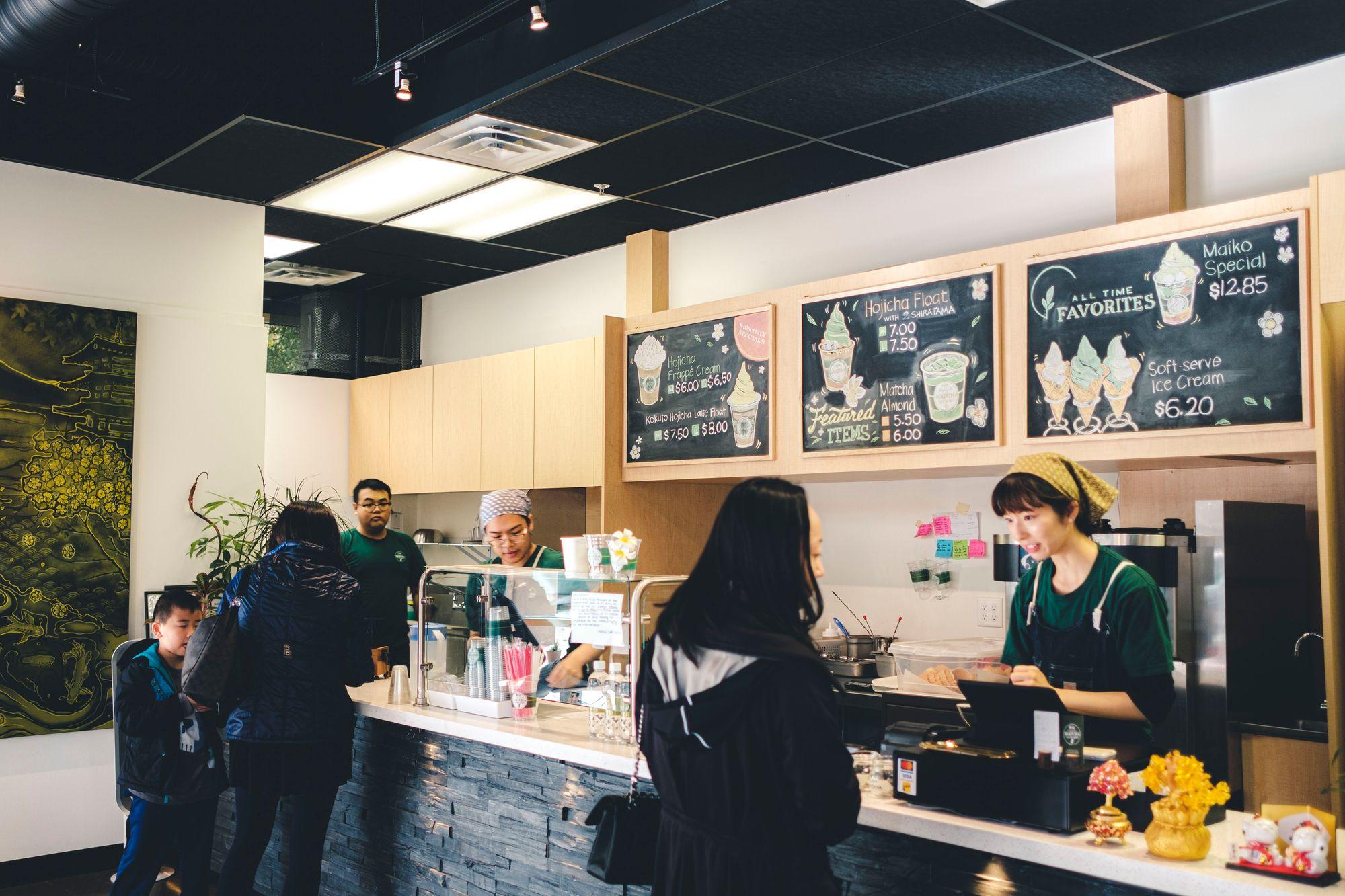 Inside Matcha Cafe Maiko