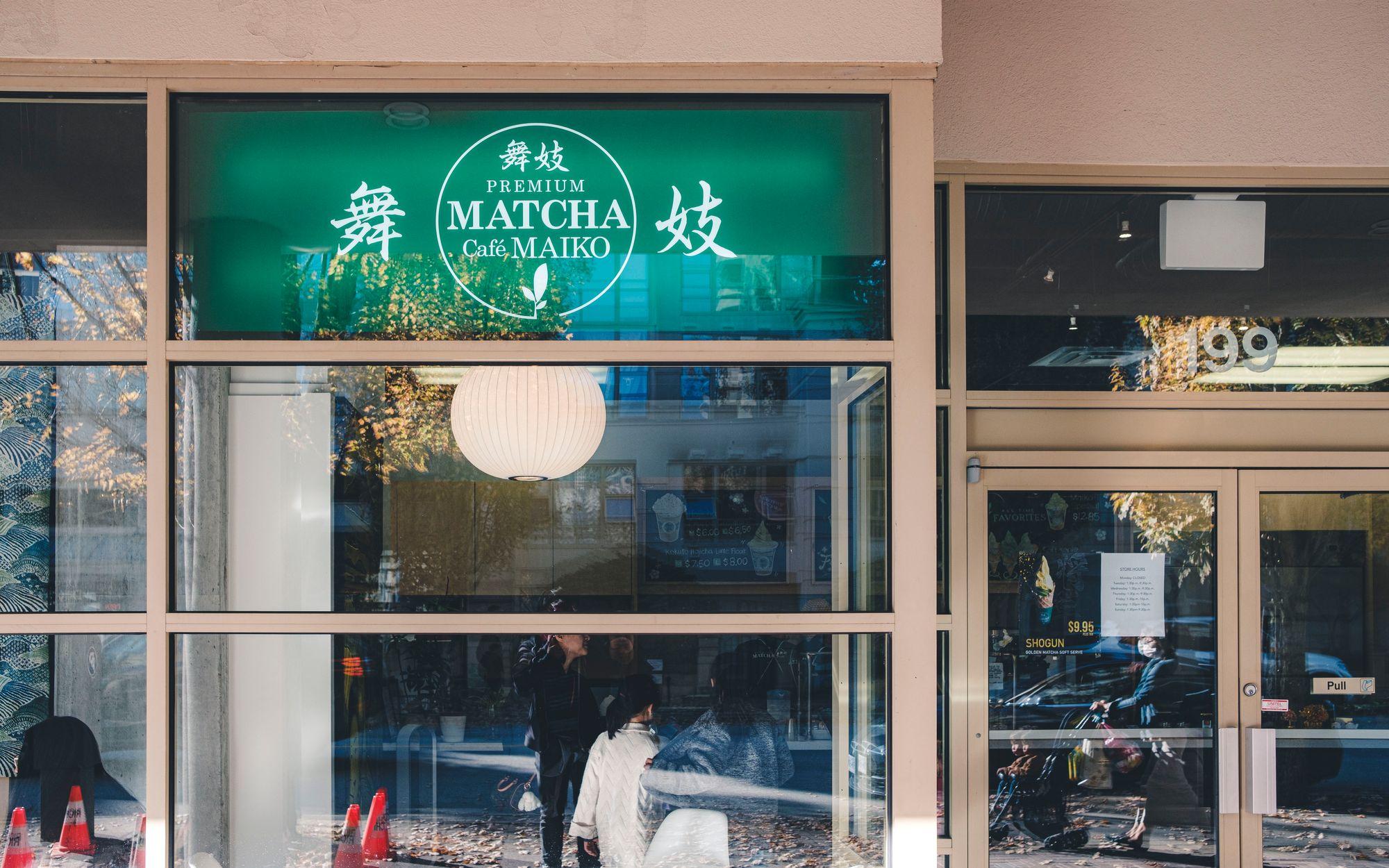 Outside Matcha Cafe Maiko