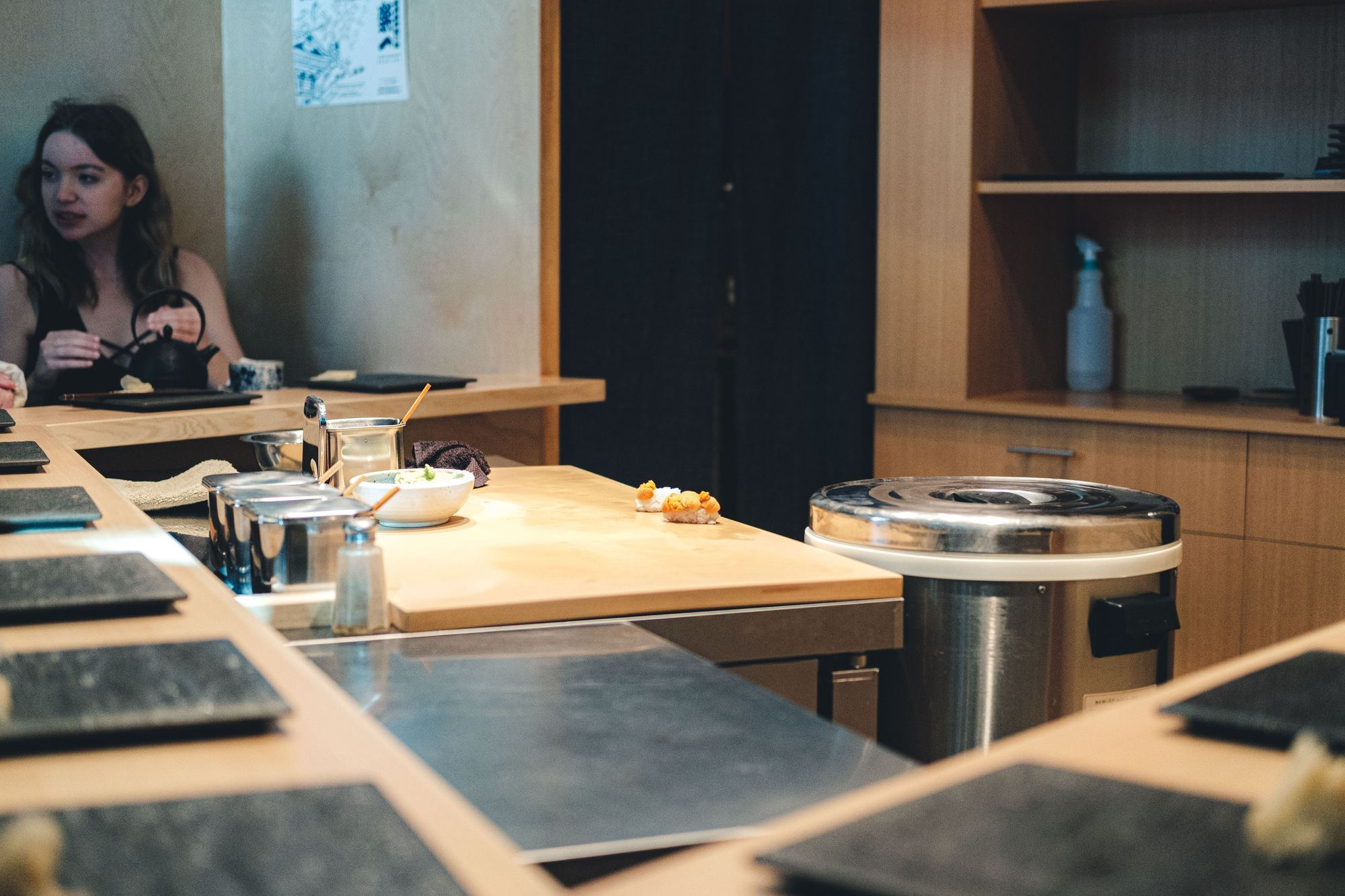Inside Sushi Bar Maumi