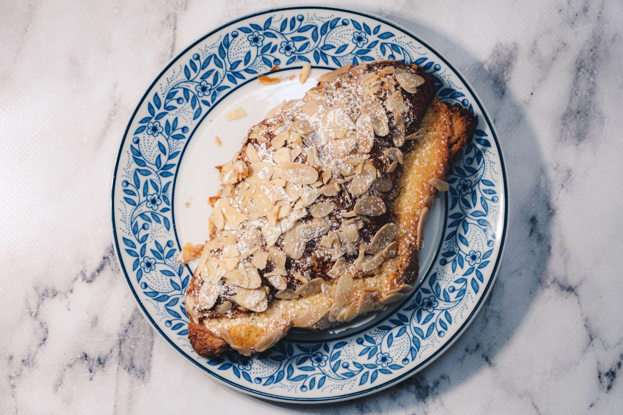 Temper Almond Croissant ($5.50) - Overhead