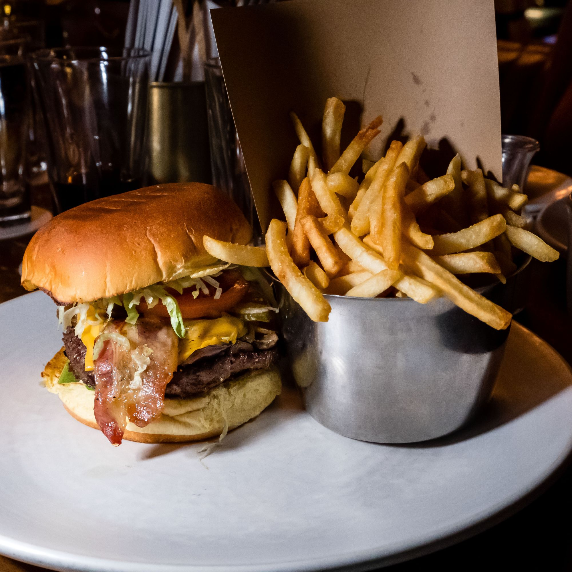 Lamplighter Pub Classic Burger with All Options ($29)