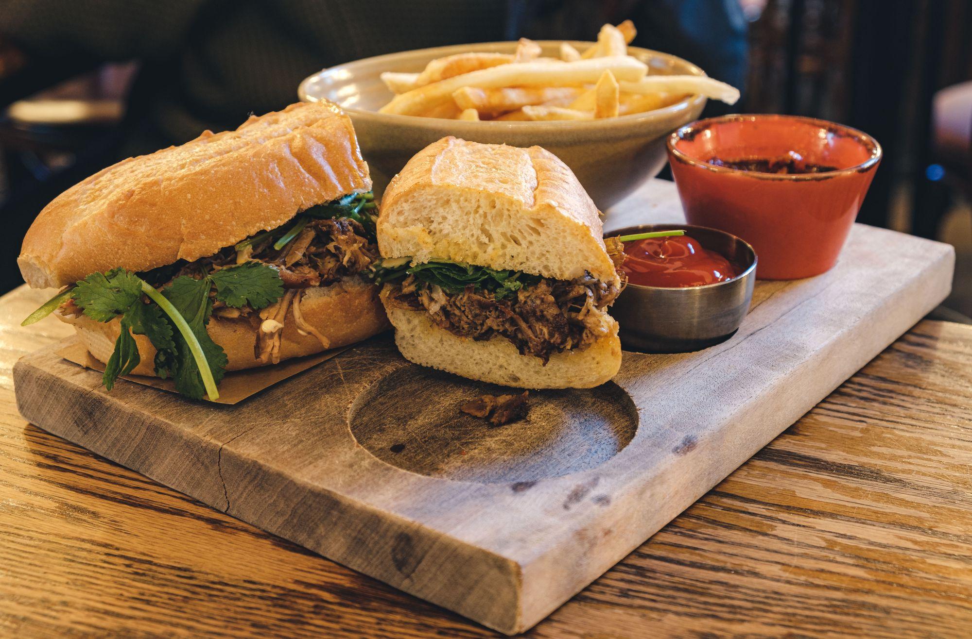 BBQ Lamb Sandwich