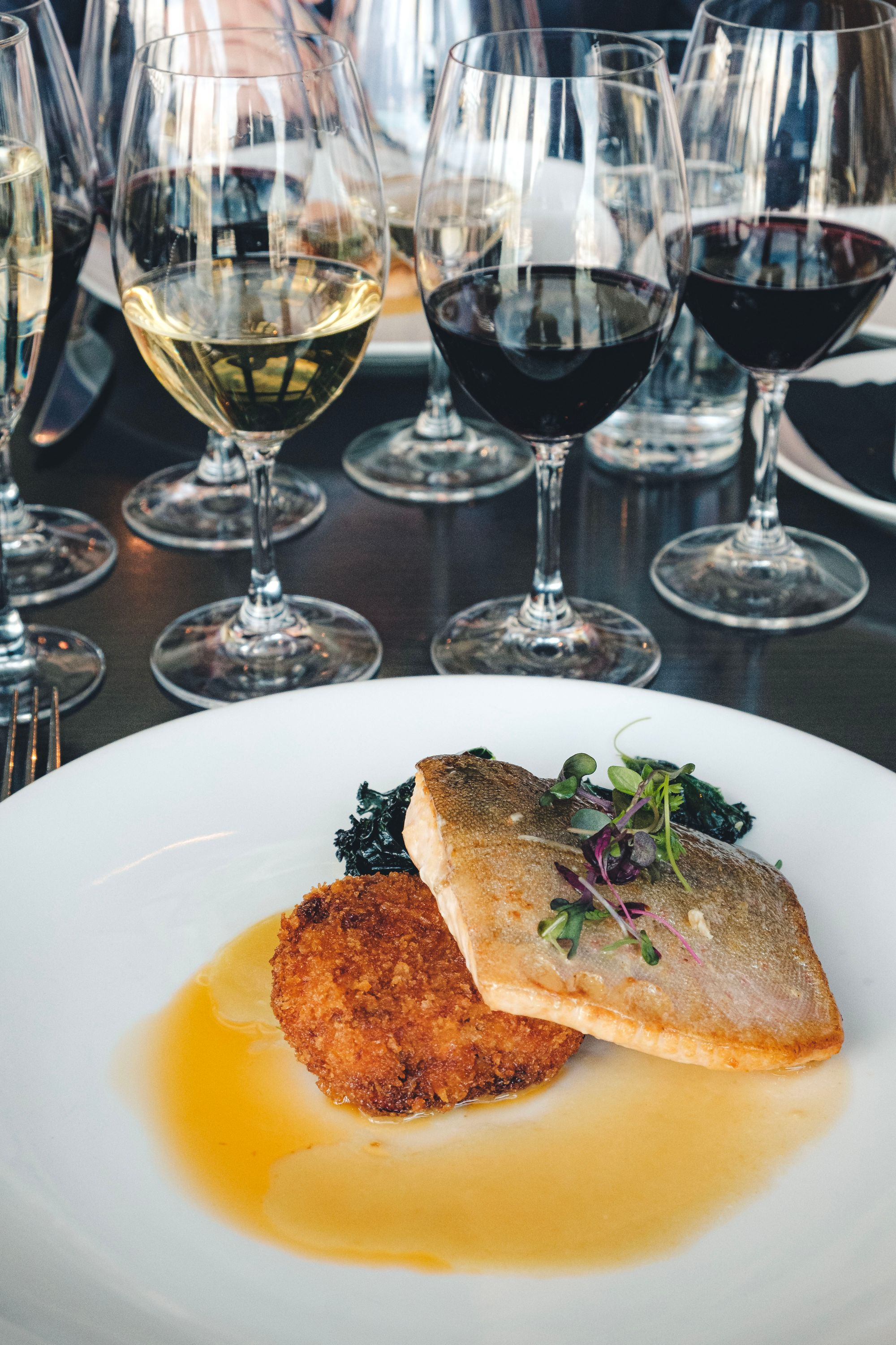 Seared Arctic Char with Wine Pairings