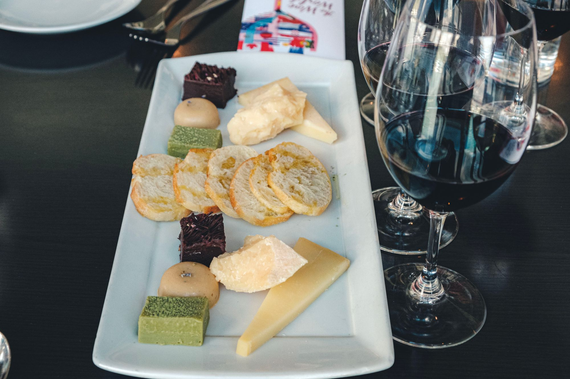 Cheese and Chocolate Platter with Wine Pairings