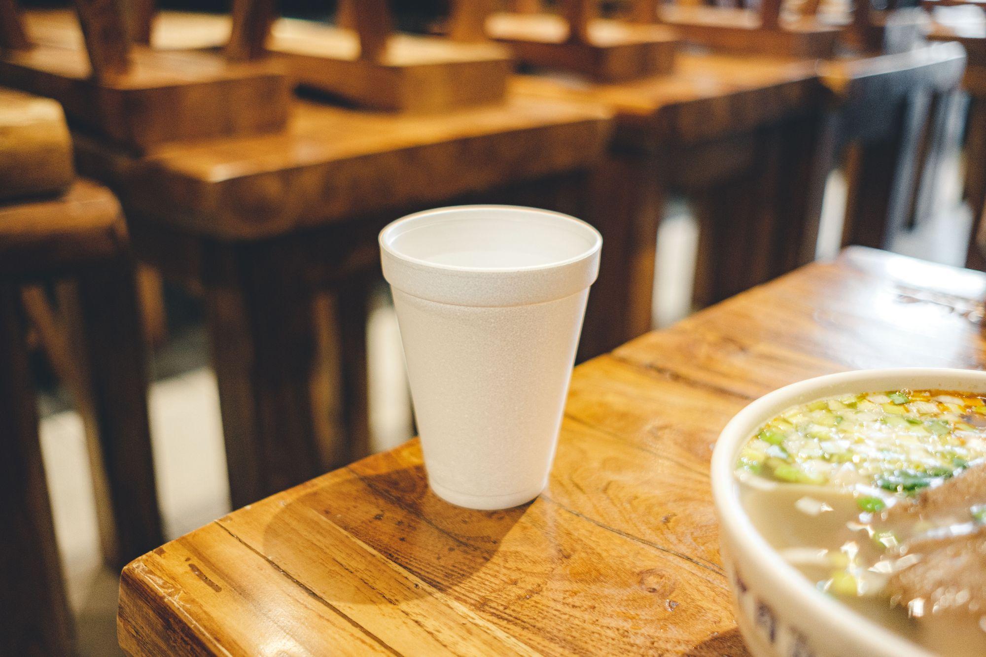 Water in Styrofoam Cup