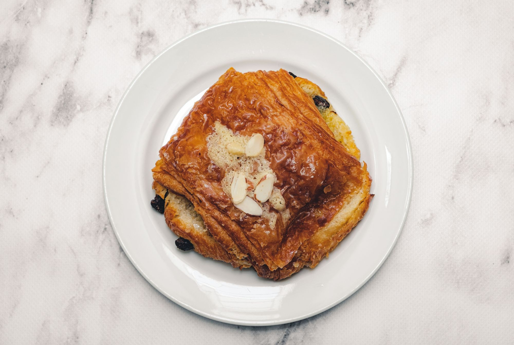 A Bread Affair Chocolate Almond Croissant –Overhead