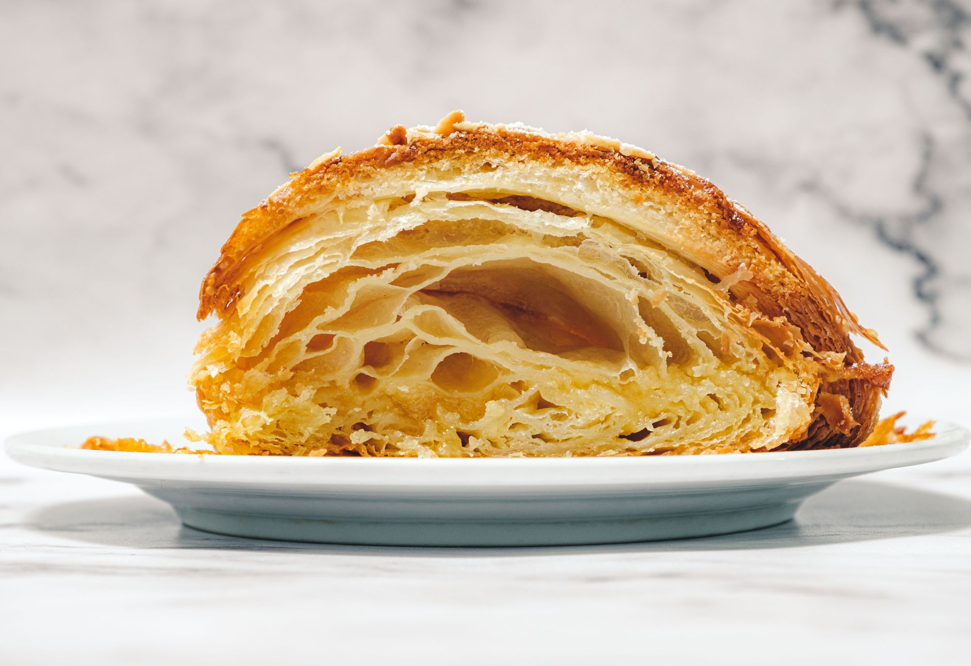 L'atelier Patisserie Almond Croissant ($4.30) - Cross Section