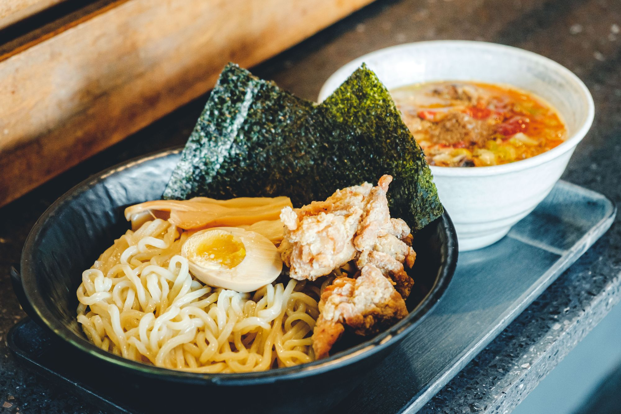 Fried Chicken Tsukemen