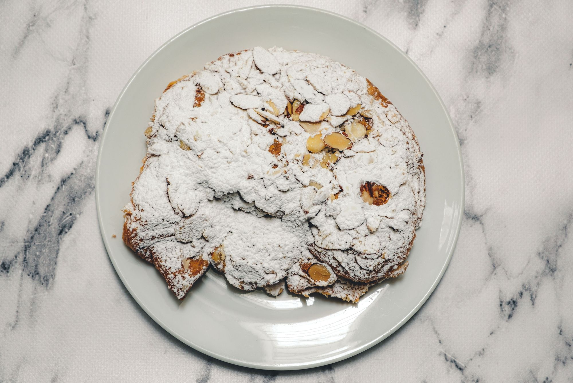 Purebread Almond Croissant ($4.75) - Overhead