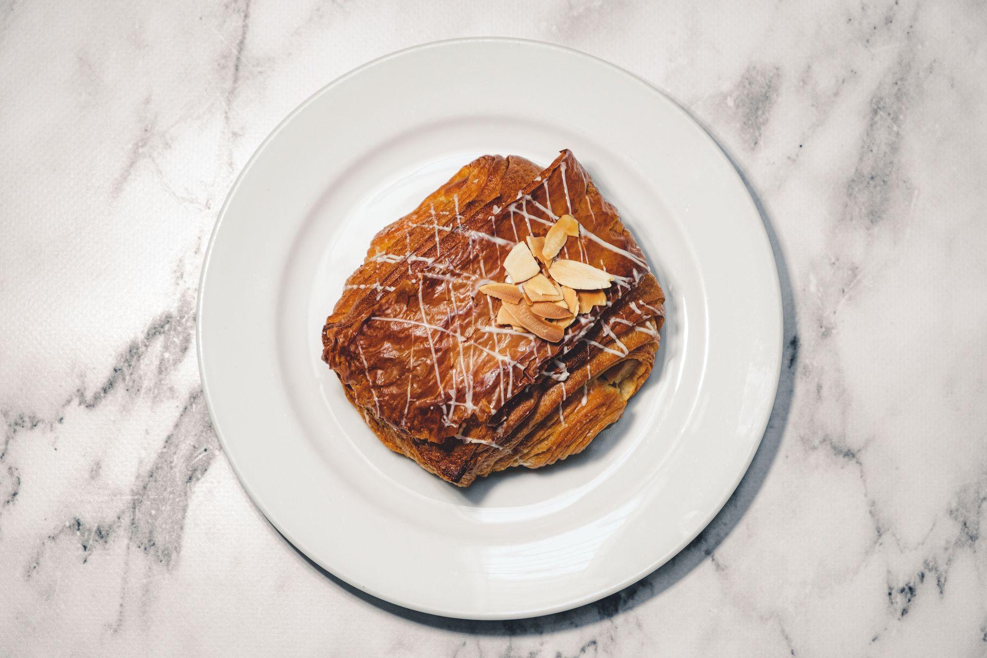 Trafiq Almond Croissant ($4) - Overhead