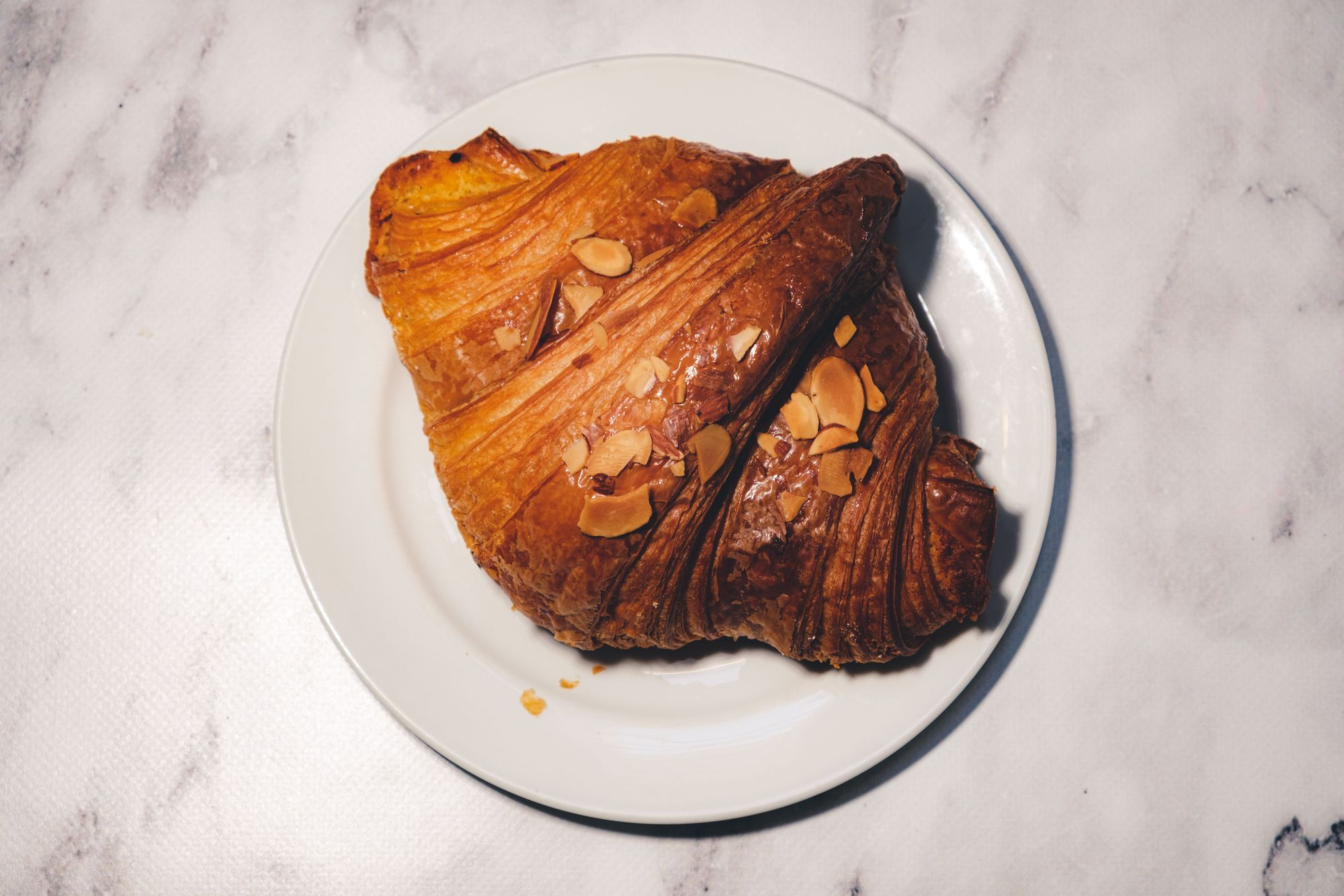 Little Fox Bakehouse Almond Croissant ($3.75) - Overhead