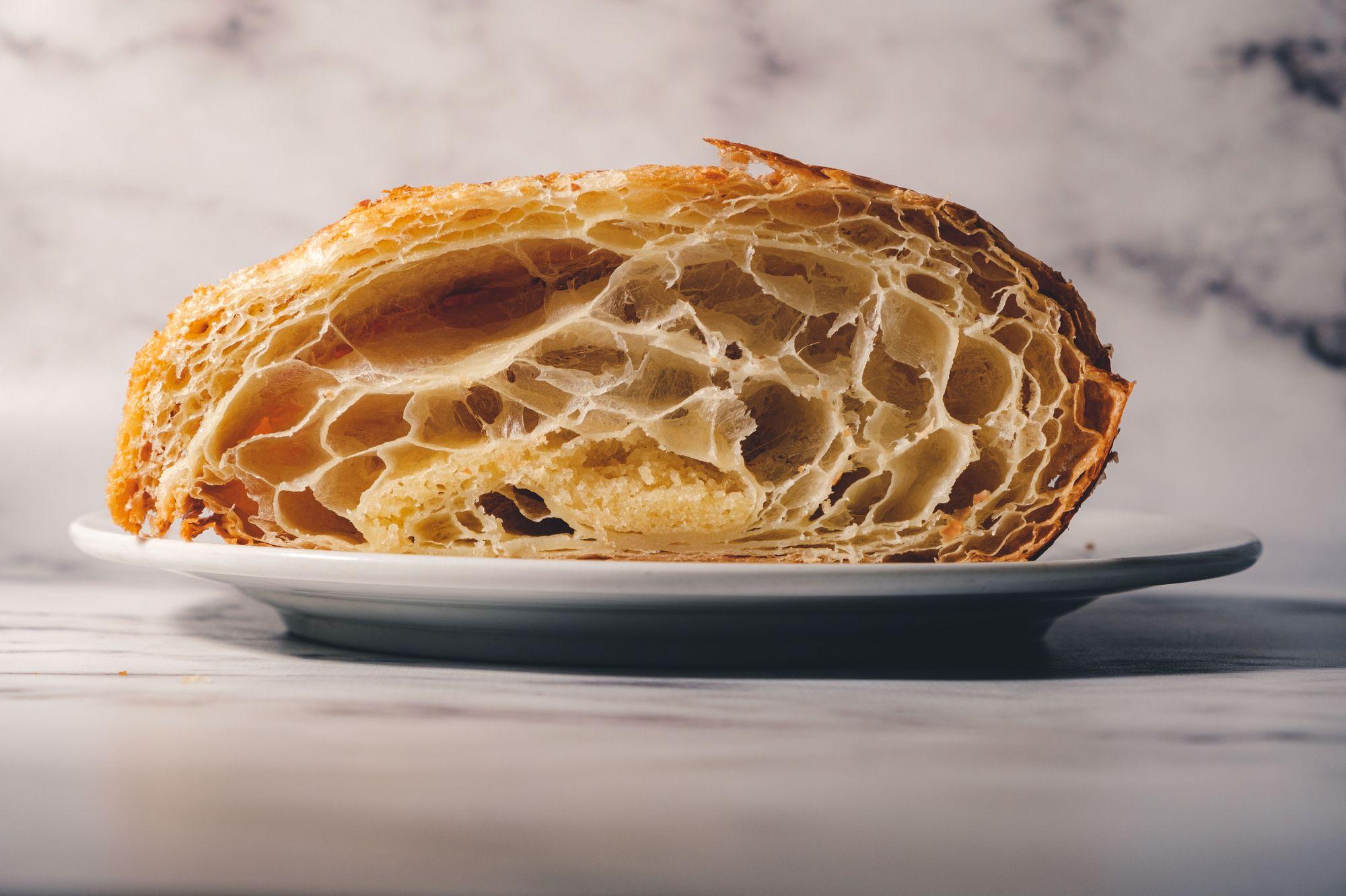 Little Fox Bakehouse Almond Croissant ($3.75) - Cross Section