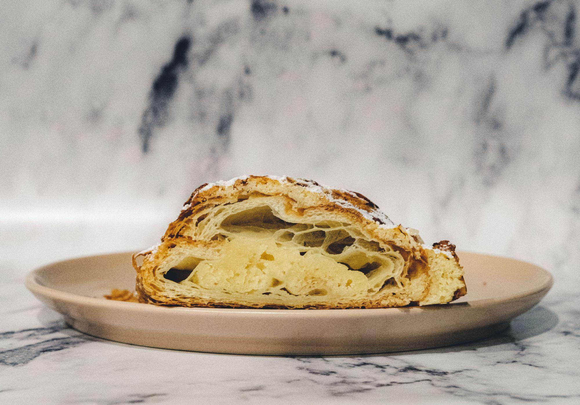 La Forêt Almond Croissant ($4.75) - Cross Section