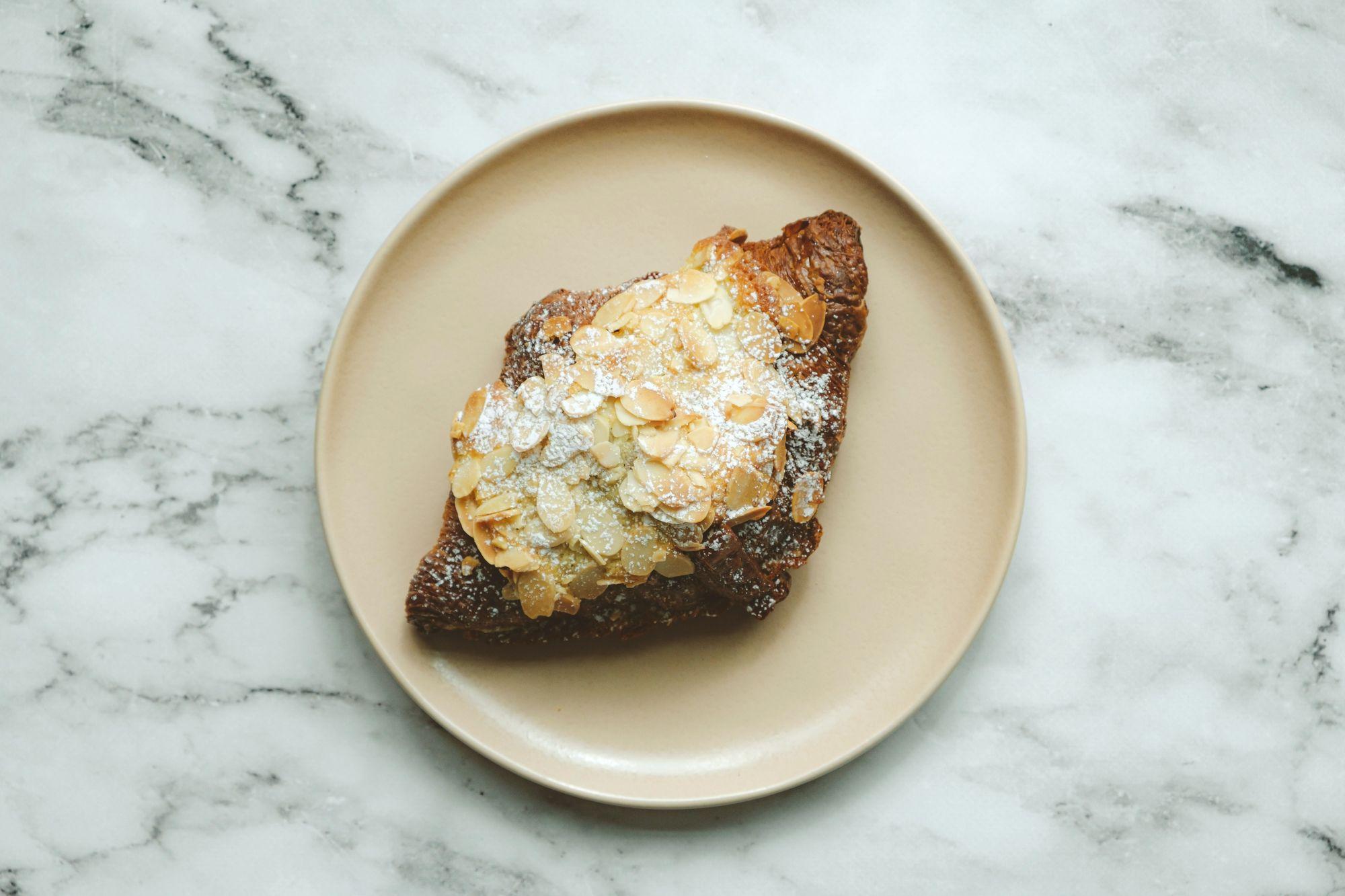 FDL Cafe Double Baked Almond Croissant ($4.75) - Overhead