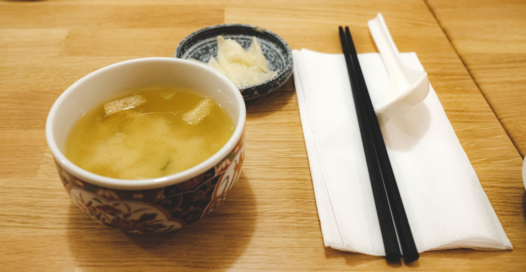 Miso Soup and Pickled Radish