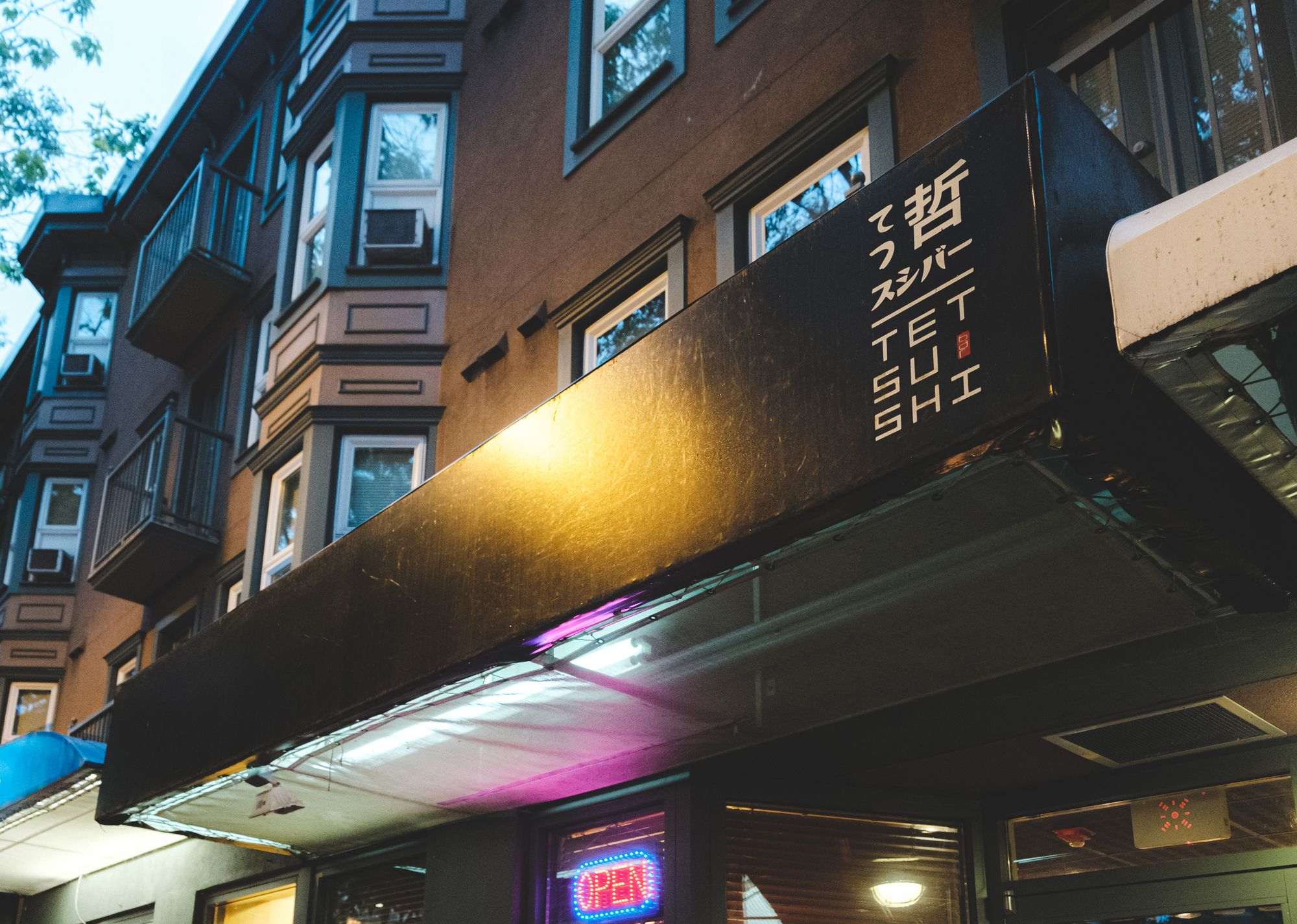 Outside Tetsu Sushi Bar